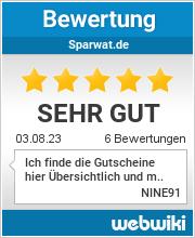 Bewertungen zu sparwat.de