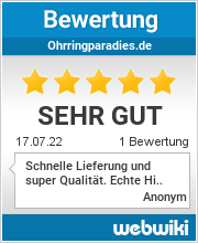 Bewertungen zu ohrringparadies.de