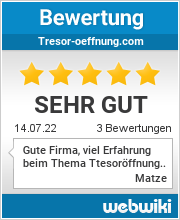 Bewertungen zu tresor-oeffnung.com