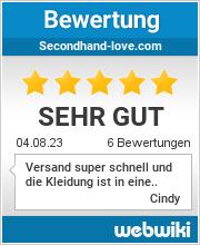 Bewertungen zu secondhand-love.com