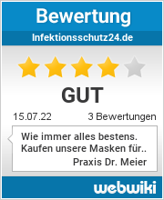 Bewertungen zu infektionsschutz24.de