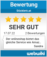 Bewertungen zu sticklett.at