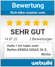 Bewertungen für Kick-Bike-Scooter Webwiki