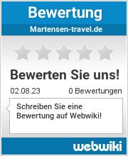 Bewertungen zu martensen-travel.de