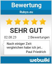 Bewertungen zu rubys.eu