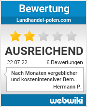 Bewertungen zu landhandel-polen.com