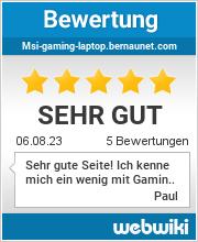 Bewertungen zu msi-gaming-laptop.bernaunet.com