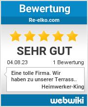 Bewertungen zu re-elko.com