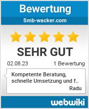 Bewertungen zu smb-wacker.com