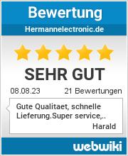 Bewertungen zu hermannelectronic.de
