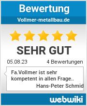 Bewertungen zu vollmer-metallbau.de