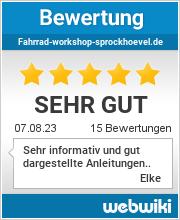Bewertungen zu fahrrad-workshop-sprockhoevel.de