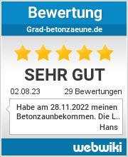 Bewertungen zu grad-betonzaeune.de