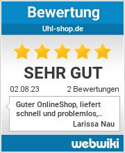 Bewertungen zu uhl-shop.de