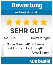 Bewertungen zu aet-autoteile.de