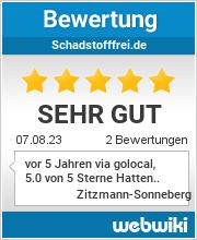 Bewertungen zu schadstofffrei.de