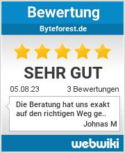 Bewertungen zu byteforest.de