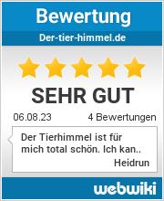Bewertungen zu der-tier-himmel.de