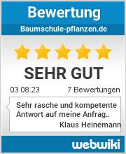 Bewertungen zu baumschule-pflanzen.de