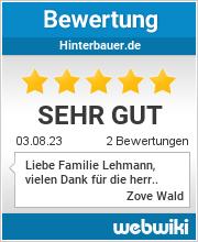 Bewertungen zu hinterbauer.de