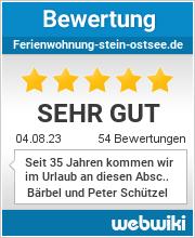 Bewertungen zu ferienwohnung-stein-ostsee.de