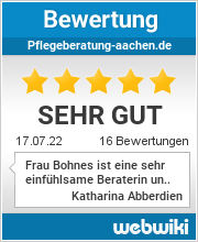 Bewertungen zu pflegeberatung-aachen.de