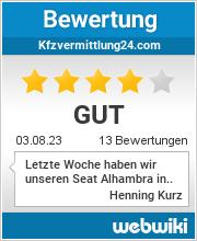 Bewertungen zu kfzvermittlung24.com