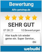 Bewertungen zu alfs-petshop.de