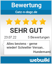 Bewertungen zu catz-n-dogz.de