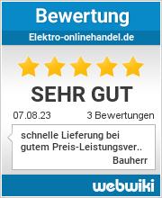 Bewertungen zu elektro-onlinehandel.de