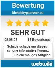 Bewertungen zu diehobbygaertner.eu