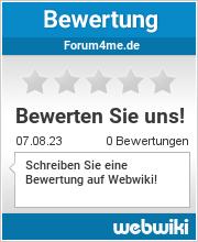 Bewertungen zu forum4me.de