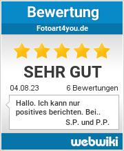 Bewertungen zu fotoart4you.de