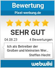 Bewertungen zu pixel-werbung.de