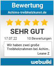 Bewertungen zu achims-treibholzkunst.de