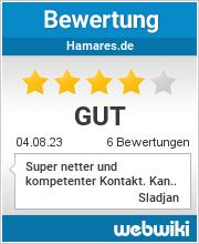 Bewertungen zu hamares.de