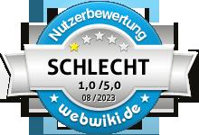 web.de Bewertung