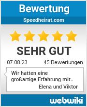 Bewertungen zu speedheirat.com