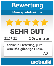 Bewertungen zu mousepad-direkt.de