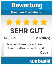 Bewertungen zu danceandfoxradio.de