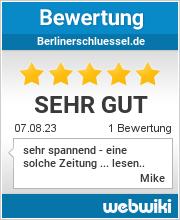 Bewertungen zu berlinerschluessel.de