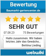 Bewertungen zu baumarkt-gartencenter.de