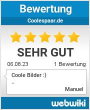 Bewertungen zu coolespaar.de