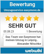 Bewertungen zu umzugsservice-easymove.de