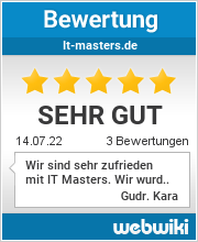 Bewertungen zu it-masters.de