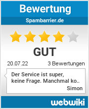 Bewertungen zu spambarrier.de