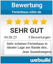 Bewertungen zu ferienhaus-ziller.de